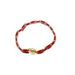 Bracelet Or-Corail, 3 rangs